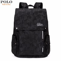 VICUNA POLO Brand Fashion Camouflage Drawstring Backpack Large Capacity Casual Men Backpack Mens Travel Laptop Backpack