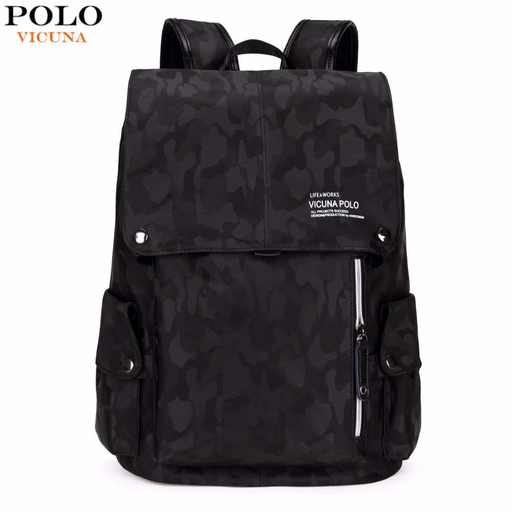 VICUNA POLO Brand Fashion Camouflage Drawstring Backpack Large Capacity  Casual Men Backpack Mens Travel Laptop Backpack Hot Sell ⋆ heshe
