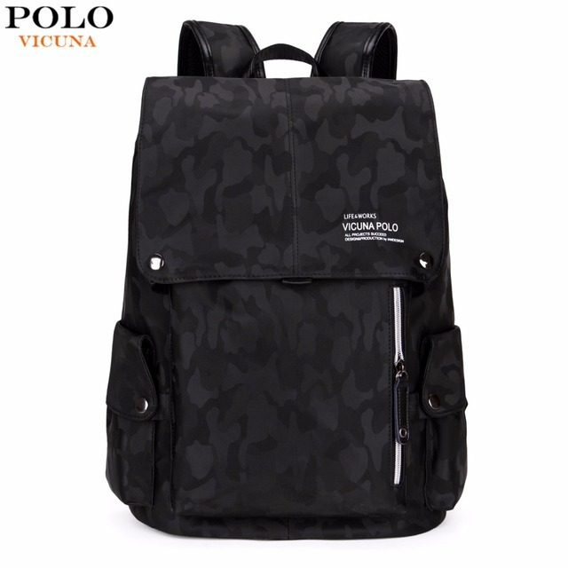 2a025b87b76 VICUNA POLO Brand Fashion Camouflage Drawstring Backpack Large Capacity  Casual Men Backpack Mens Travel Laptop Backpack Hot Sell
