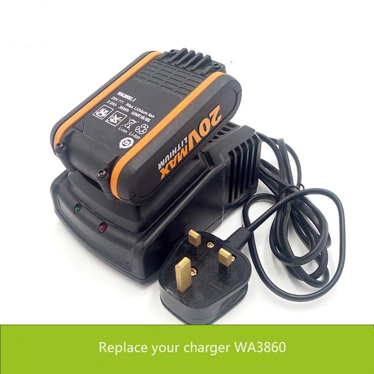 Chargeur rapide pour WORX 20 V