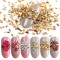 1 Set Mixed Design New Nail Art Sticker Zircon Gold Silver Glitter Geometric Figure Water Decal Slider Wraps Decor Manicure