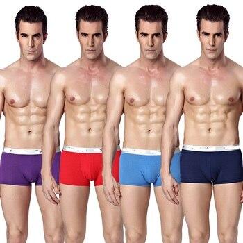 4Pcs/Lot Brand Mens Underwear Boxers Men's Sexy Underpants For Man Panties Modal Bodysuit Cuecas Hombres Boxeador Calzoncillos