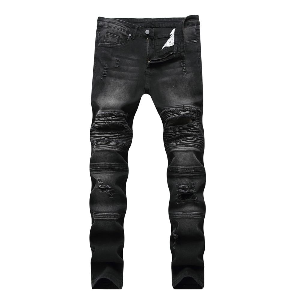 High Quality Causal Mens Skinny Jeans Distressed Ripped Hole Biker Denim Slim Fit Kenn Camouflage Hip Hop Punk Men Jeans майка тренировочная ultrasport jr подростковая