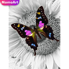MomoArt 5D Diamond Painting Butterfly Embridery Full Square Rhinestone Mosaic Animal Art