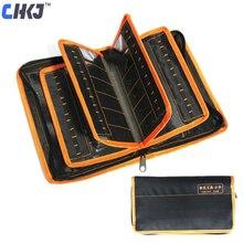 حقيبة أدوات LiShi 2 في 1 من CHKJ لمجموعة أدوات Lishi 50 قطعة يمكن تعبئتها في قفال أدوات سميكة حقيبة تخزين أدوات شحن مجاني