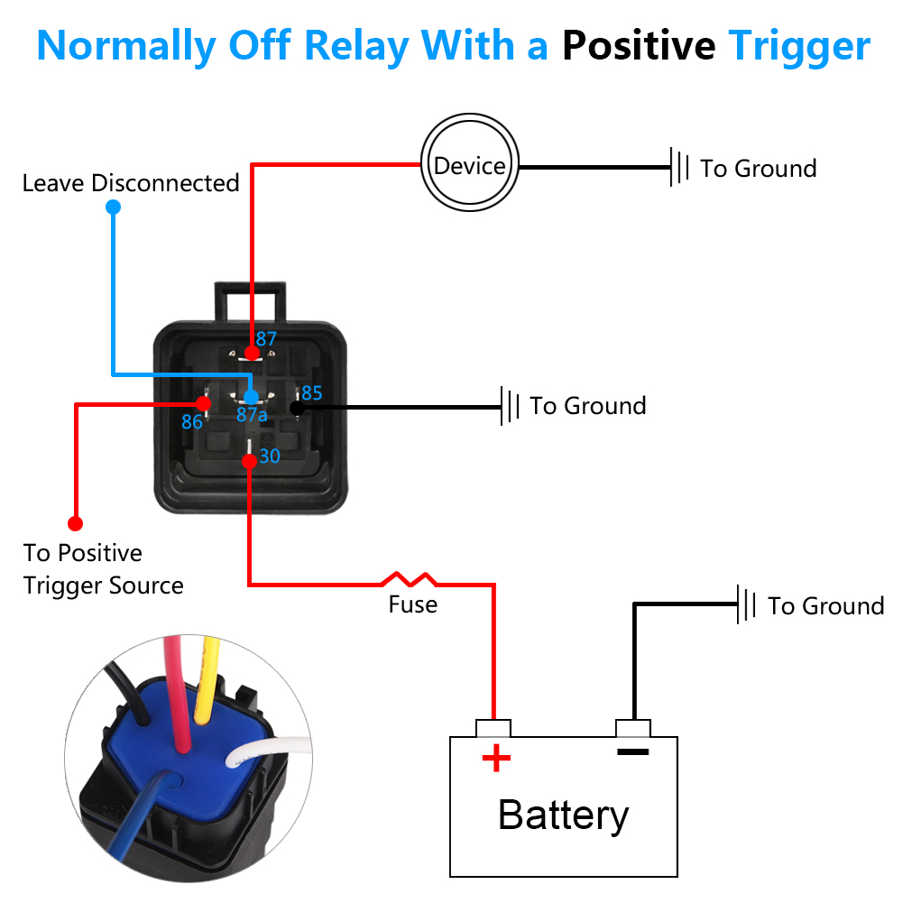 Urbanroad 5pcs Set 40 30 Amp Car Relay Switch Harness Spdt 5 Pin As You Can See In The Schematics Above If We Use A No Dpst With 12 Awg Socket Auto Dc 12v Waterproof Switches Relays From Automobiles
