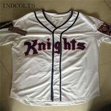d0b98968916 INDCOLTS Mens 9 Roy Hobbs New York Knights Natural Movie Redford Baseball  Jerseys