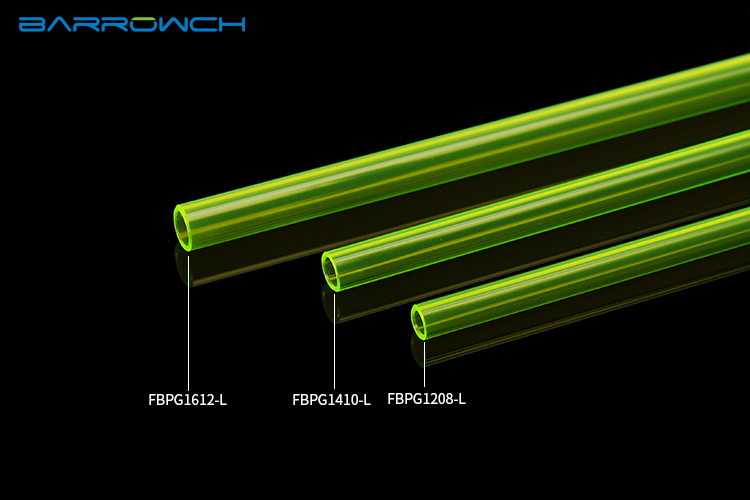 Купить с кэшбэком Barrow PETG Hard Tube ( 8/12mm - 10/14mm - 12/16mm ) Thickness 2mm Length 50cm Rigid Pipe 2pcs/Lots