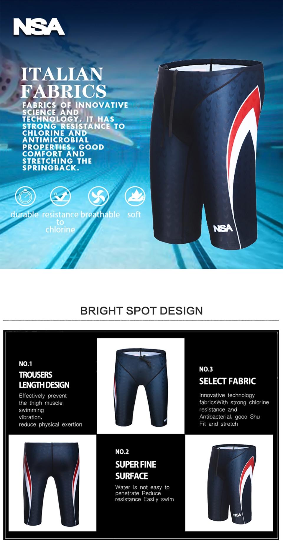 a147ec33d9003 NSA Men Professional Swimming Briefs Sharkskin Underwear Trunks Swimwear  Plus Size 5XL Bathing Suit Mens Swimsuit Beachwear