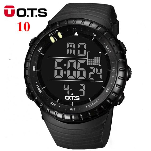 OTS Relógio dos homens LEVOU Esportes Relógio Digital de Relógio 50 M À Prova D' Água Horas relógios de Pulso Militar Dos Homens Top Marca de Luxo Relogio masculino