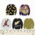 Высокое качество 12-18 год молодежи Весна и Осень бейсбол одежда 3D мультфильм логотип печатается шею свитер Хип-Хоп одежды