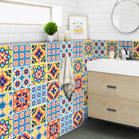 Populus Self adhesive Waterproof Wallpaper Toilet Bathroom Kitchen Sticker Room Decoration Floor Sticker Wear Resistant