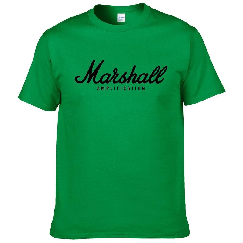 100% cotton Marshall T Shirt men short sleeves tee hip hop street wear for fans hipster 37