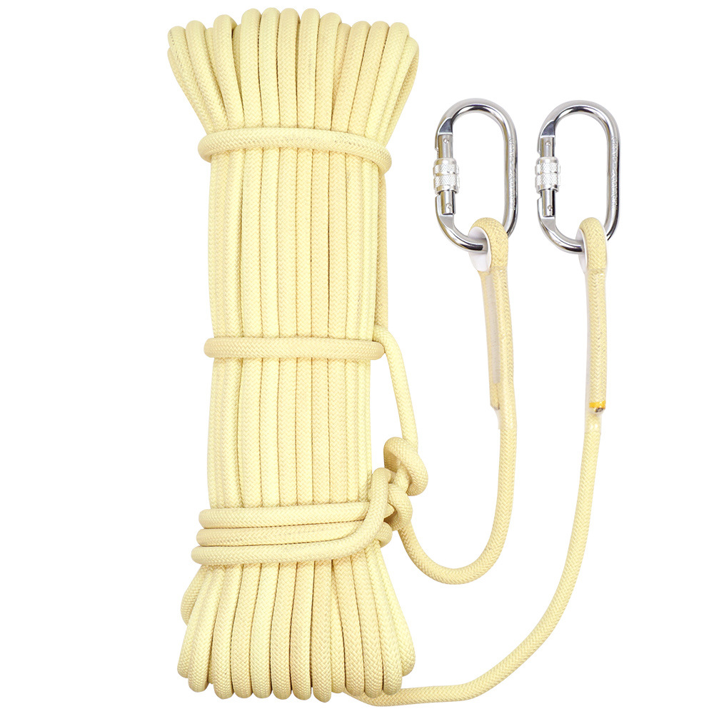 P213-8mm Kevlar Durable Drop Equipment Fire Retardant Safe Lifesaving Drop Rope Static Rope Engineering Protection Rescue Rope