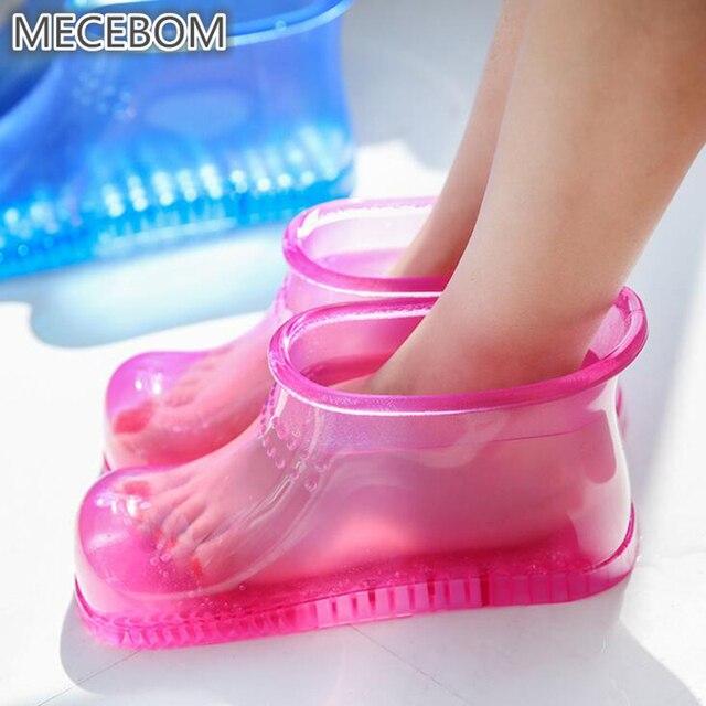 Kadın Ayak Emmek Banyo Theorapy Masaj Gevşeme Çizmeler Ayak Bileği Kauçuk Akupunktur Noktası Sole Ev Ayak Bakımı Sıcak su Zapatos Mujer PJ1W
