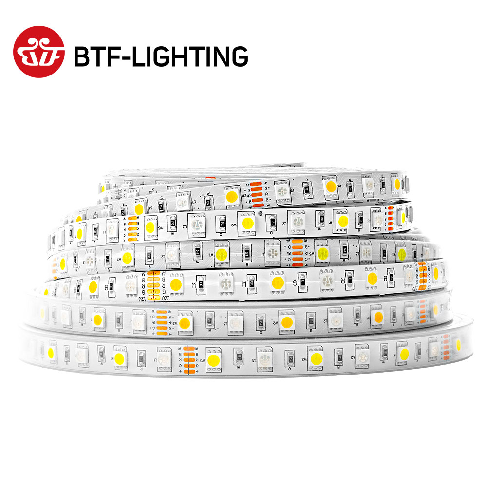 5m 60led M 300 leds SMD 5050 Mixed Color RGBW RGB    Warm Cool White  RGBWW RGBCW LED Strip 5pin DC12V IP30 IP65 IP67