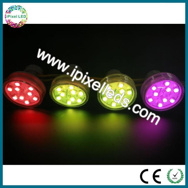 Levou ponto da fonte de luz 45mm led luzes do ponto de pixel 9 leds pixel fonte de luz de controle interno