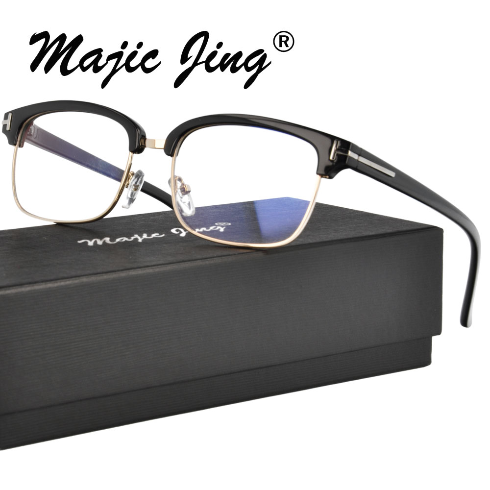 Kunststoff und Metall Brille Rahmen Männer Vintage Vollrand Rezept Eye Brillen Myopie Optische Rahmen Brillen 2995