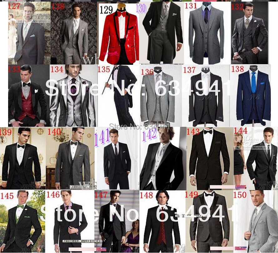 Custom made cheap light gray mens suit complete designer western ...