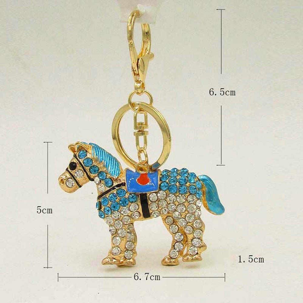 Модные, красивые, с кристаллами брелок лошадь брелок Mulitcolor горный хрусталь кулон брелок подарок сумка аксессуар