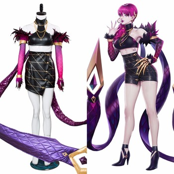 Full Set LOL Cosplay KDA Agony's Embrace Evelynn Costume K/DA Skin Outfit Women Adult Halloween Sexy Costume Custom Made