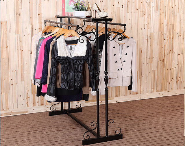 wrought iron clothes rack floor type clothing store shelves in rh aliexpress com fashion store shelves clothing store shelves for sale