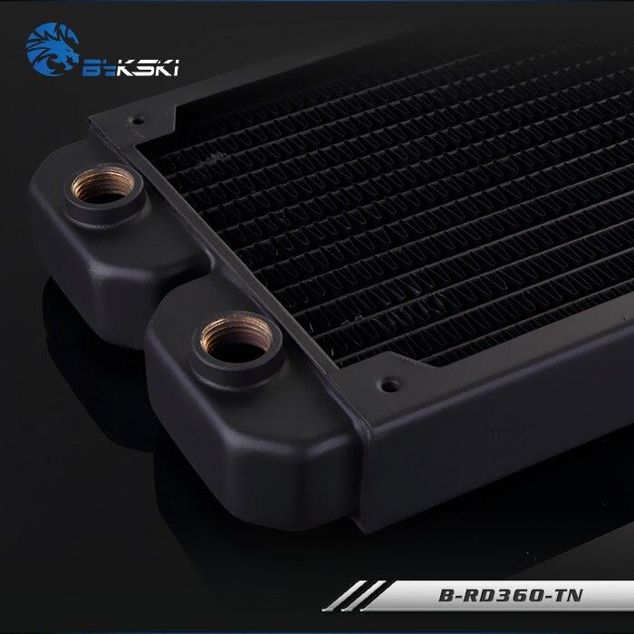 BYKSKI 28mm épaisseur cuivre 360mm simple rangée de radiateur ordinateur refroidissement par eau liquide échangeur de chaleur utilisation pour 12 cm ventilateurs B-RD360-TN - 4