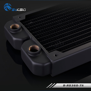 Image 4 - BYKSKI 28mm Thick Copper 360mm Single Row of Radiator Computer Water Cooling Liquid Heat Exchanger use for 12cm Fans B RD360 TN