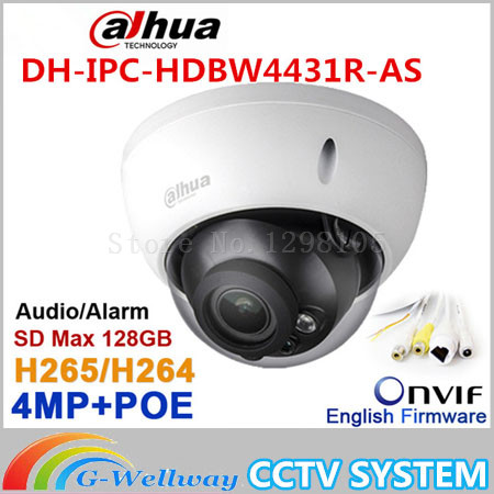 Dahua 4MP IPC-HDBW4431R-AS replace IPC-HDBW4421R-AS IP network camera POE & Micro SD storage Audio alarm DH-IPC-HDBW4431R-AS original dahua 4mp ipc hdbw4421r as ip network camera support poe
