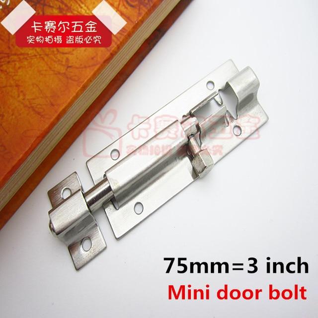 3  Mini Bolt Stainless steel furniture cabinets Door Latches Toilet Door Latch Security Door Guard  sc 1 st  AliExpress.com & 3