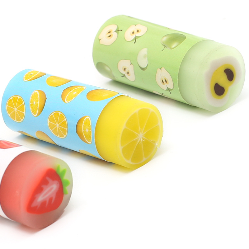Creative Fruit Erasers Cartoon Cute Erasers Children Gift School Stationery And Office Supplies 1pcs new creative stationery supplies kawaii cartoon pencil erasers for office school kids prize writing drawing student gift
