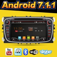 2din android 7.1 Car DVD for Ford Mondeo C max S max with English Wifi 3G/4G GPS Bluetooth Radio touch screen mirror link