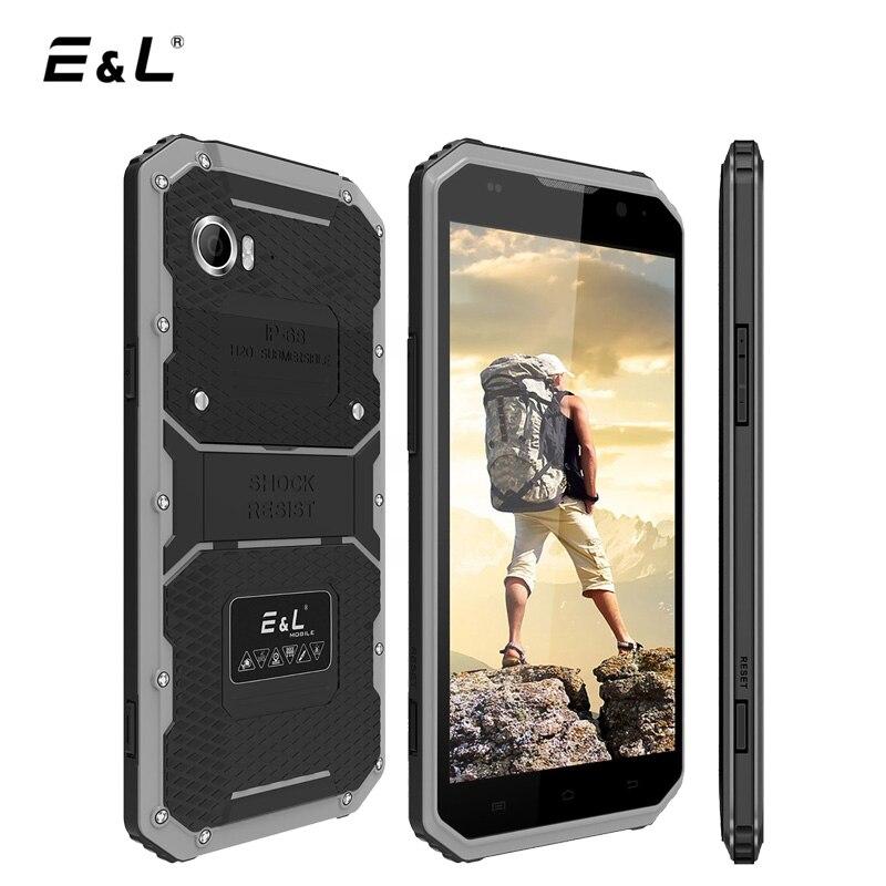 E & L W9 4G LTE IP68 Mobiele Telefoon Android 6.0 MTK6753 Octa Core 2 16 GB 1920*1080 IPS Smartphone 6 Inch Waterdicht Schokbestendig telefoon