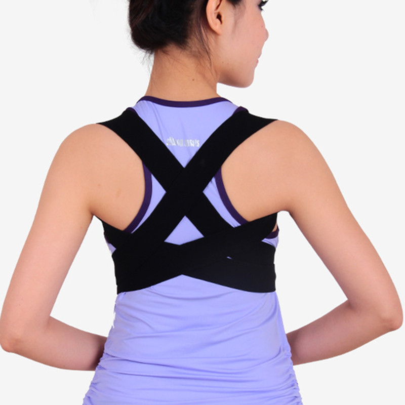 Back Brace Shoulder Posture Corrector Elastic Orthosis Support Kyphosis Slouch Habitual Hunchback Belt Brace Men Women