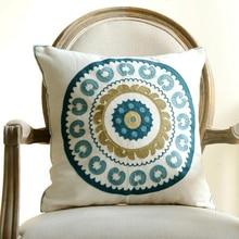 """18 """"estilo rústico cojines decorativos de flores de alta calidad bordado cojines decoración del hogar"""