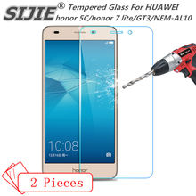 2PCS Tempered Glass For HUAWEI honor 5C 7 lite GT3 NEM-AL10 7lite cover Screen protective 5.2 inch smartphone toughened case 9H(China)