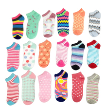 Women's socks 5 pairs Pink happy Motion Socks Colorful Funny Socks football Creative Color stripe pattern short Ankle Socks 5 pairs of fashionable multicolor stripe pattern socks for men
