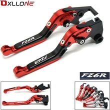 FOR YAMAHA FZ6 FAZER 2004 2005 2006 2007 2008 2009 2010 FZ6R 2009-2015 MOTORCYCLE ACCESSORIES CNC BRAKE CLUTCH LEVERS HANDLE for yamaha fz6 fazer s2 2004 2010 hot sale high quality short brake clutch levers motocycle black cnc aluminum levers blue color