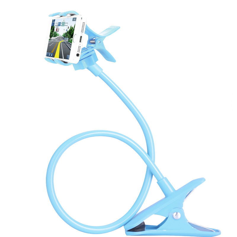 Blue Color Universal Lazy Selfie stick Desk Stand for Mobile Phone Holder for Meizu Xiaomi iPhone Samsung Sony Car Phone Holder