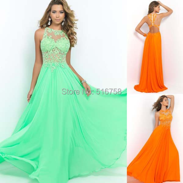 1bc1397db56f Sexy High Neck Sheer Corset Top Cut Out Open Back Flowy Chiffon Green  vestidos para formatura longo Long Beautiful Prom Dresses