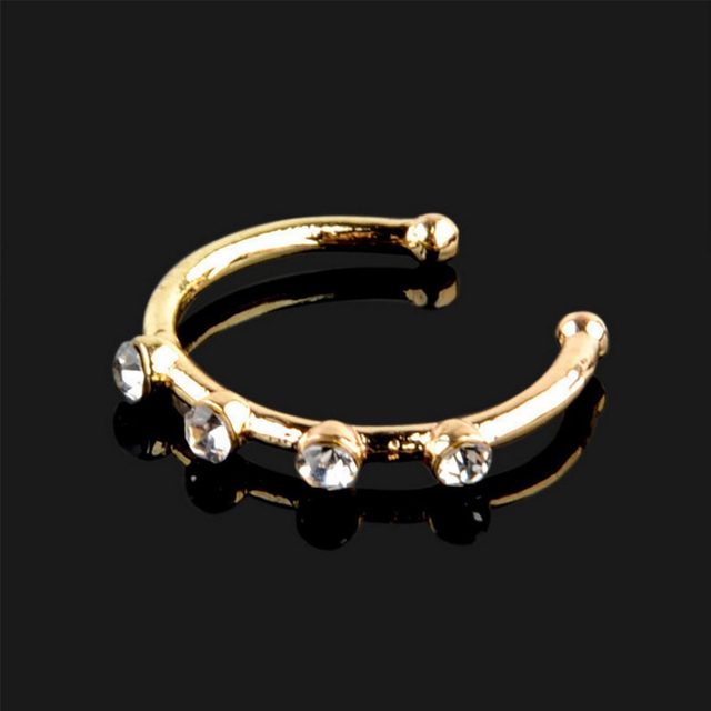 Feelgood 1PC Silver And Gold Color Nose Piercing Jewelry Nose Hoop Nostril Ring Flower Helix Cartilage.jpg 640x640 - Feelgood 1PC Silver And Gold Color Nose Piercing Jewelry Nose Hoop Nostril Ring Flower Helix Cartilage Tragus Earring