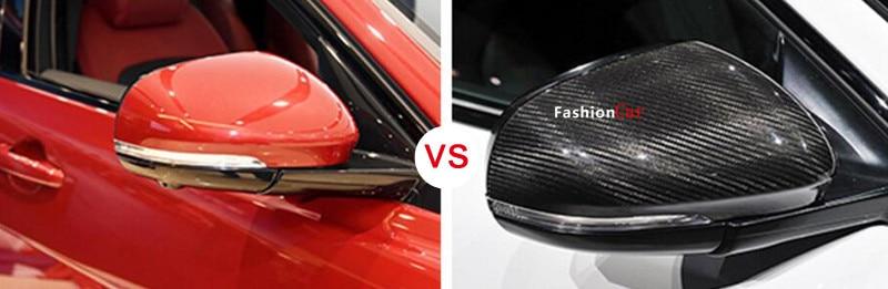 For jaguar xf x250 x260 09 10 11 12 13 14 15 2016 carbon fiber rearview mirror trim cover 2pcs car st