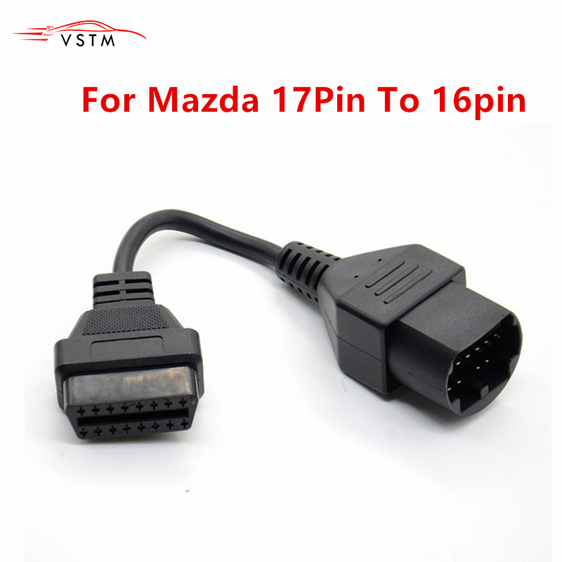 For Mazda 17Pin To 16Pin OBD2 OBD II Cable Connector Cable For Mazda 17 Pin Connect Adapter