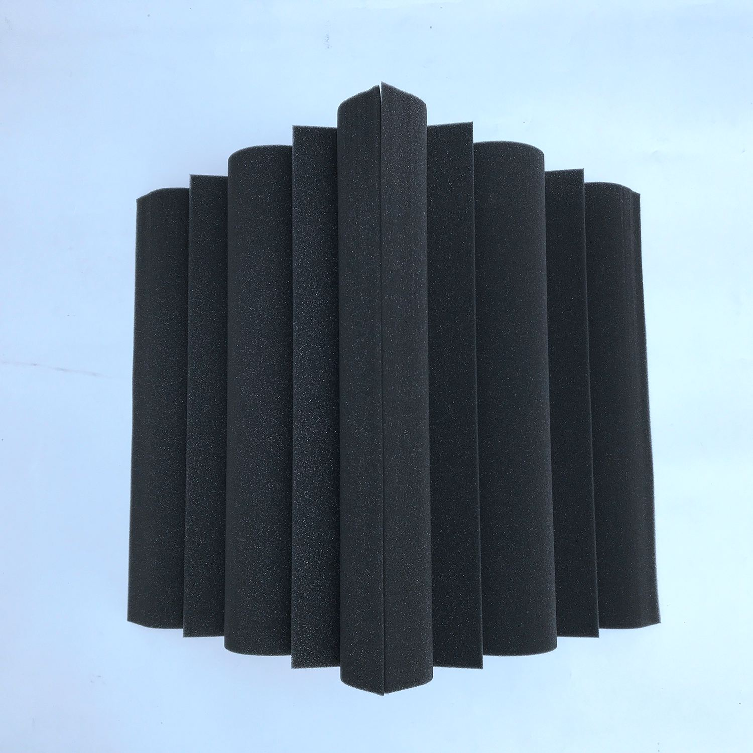 SEWS-4 Pcs Corner Bass Trap Acoustic Panel Studio Sound Absorption Foam 12*12*24cm