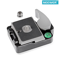 Neewer Universal Aluminum Alloy Quick Release QR Plate Clamp for DSLR Camera with Screw Adapter to Mount Tripod Monopod Ballhead