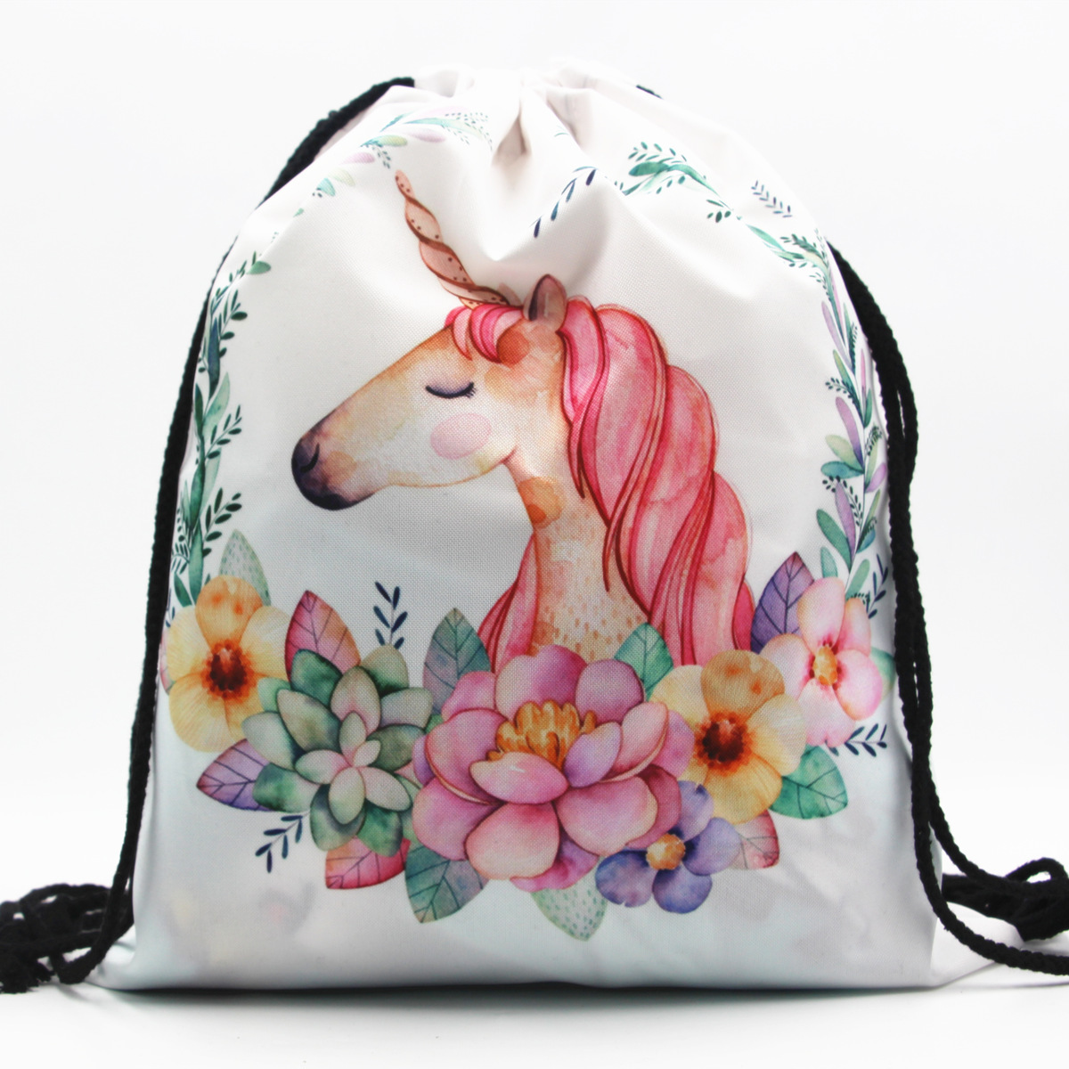 25 Color Unicorn 3D Printing Drawstring Backpack Newest Vintage College Students School Bagpack Girls Mochila Sack Bags