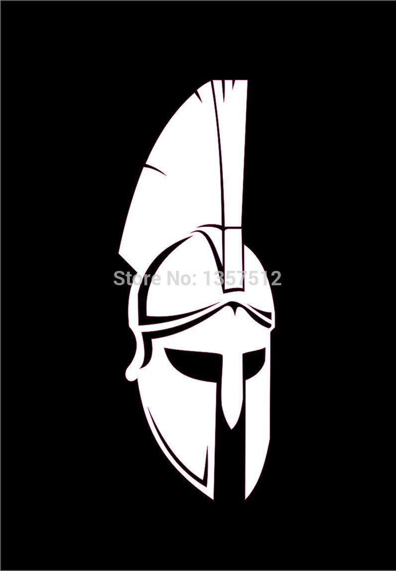 Spartan Helmets Mirrored MolonLabe Car Sticker For Truck Window Bumper Door Vinyl Decal 8 Colors Free Shipping