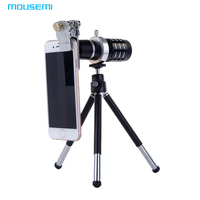 MOUSEMI Cat Clip 12x HD Telephone Lens For iPhone 7 6 5s Camera Mobile Phone Lens To Smartphone Lentes Zoom Telescope Lenses