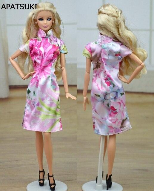 Unique Evening Dresses Chinese Traditional Dress Qipao Vestido Dress For Barbie  Doll Clothes Cheongsam 5ded0e7d8739