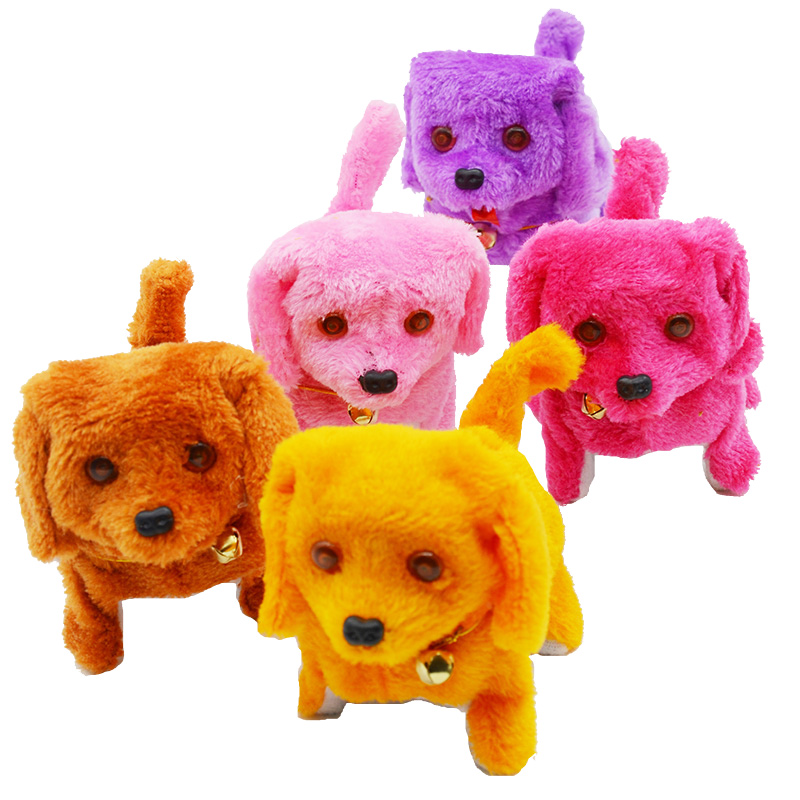 Plush Dog Teddy Walking Barking Swing Tail Cute Robot Dog Puppy Electronic Pet Dog with Music Light &Dancing Kids Toys cute stripe style dog pet apparel 2 leg holes with hat backpacks color assorted size m